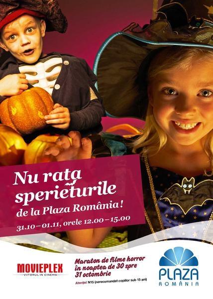 Halloween aduce la Plaza Romania un maraton de filme horror si distractii pentru cei mici