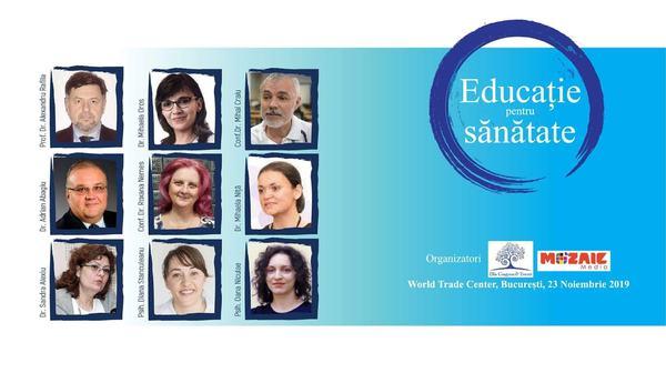 9 specialisti de top ne fac EDUCATIE PENTRU SANATATE