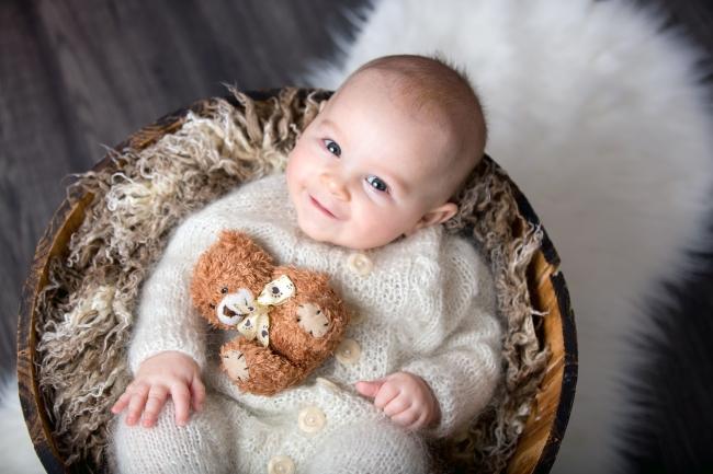 Peripetii la prima sedinta foto a bebelusului