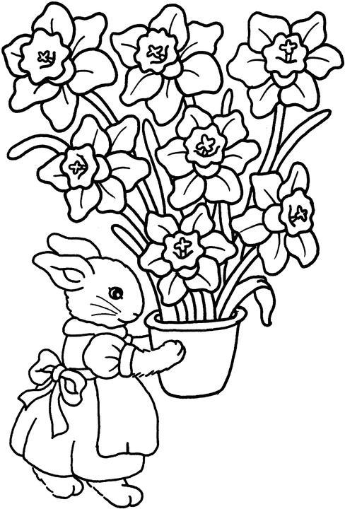 Iepuroaica Vaza Cu Flori Educatie Copilulro